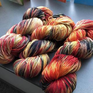 Appalachian October - Dyed Wool Yarn