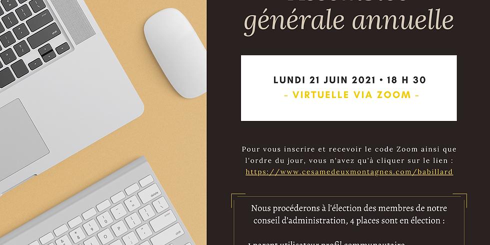 Assemblée Générale Annuelle 2021 - CESAME