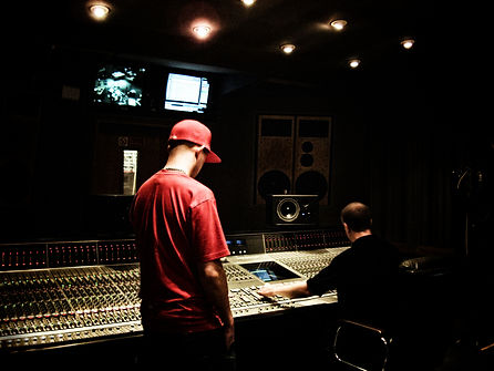 Mike Freschezza in front of the SSL Console at BBC Maida Vale for Radio 1