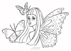 ぬりえ_butterfly