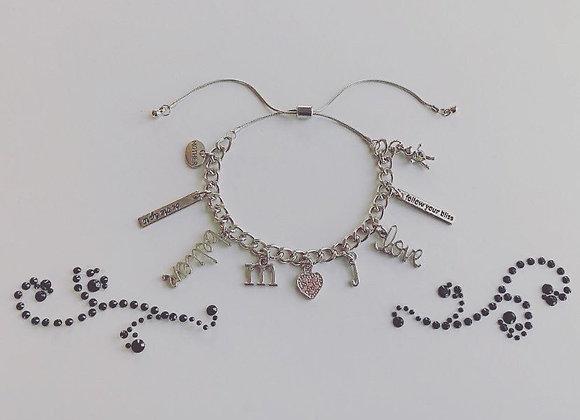 Ring Leader Adjustable Silver Bracelet (Customized)