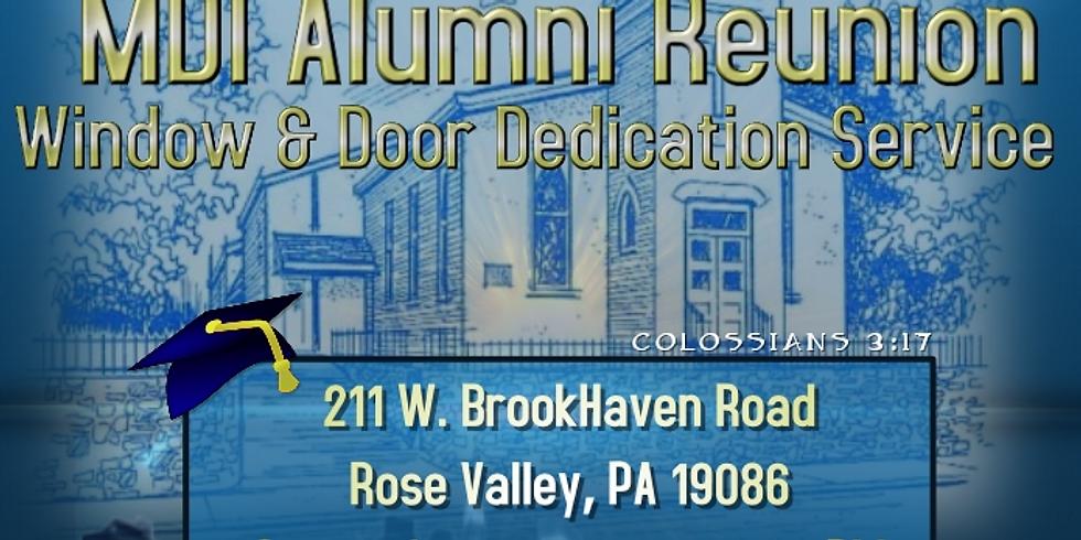 MDI Alumni Reunion / Window & Door Dedication