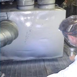 Insulated HVAC plenum coming off handling unit - AFTER