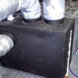 Insulated HVAC plenum coming off handling unit - BEFORE