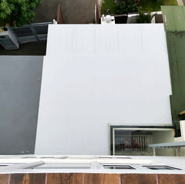 Wak Hassan, Sembawang residential roofing project completed - Front of house