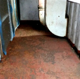Rusted plenum air ducts on a large ship - BEFORE CDS Armour
