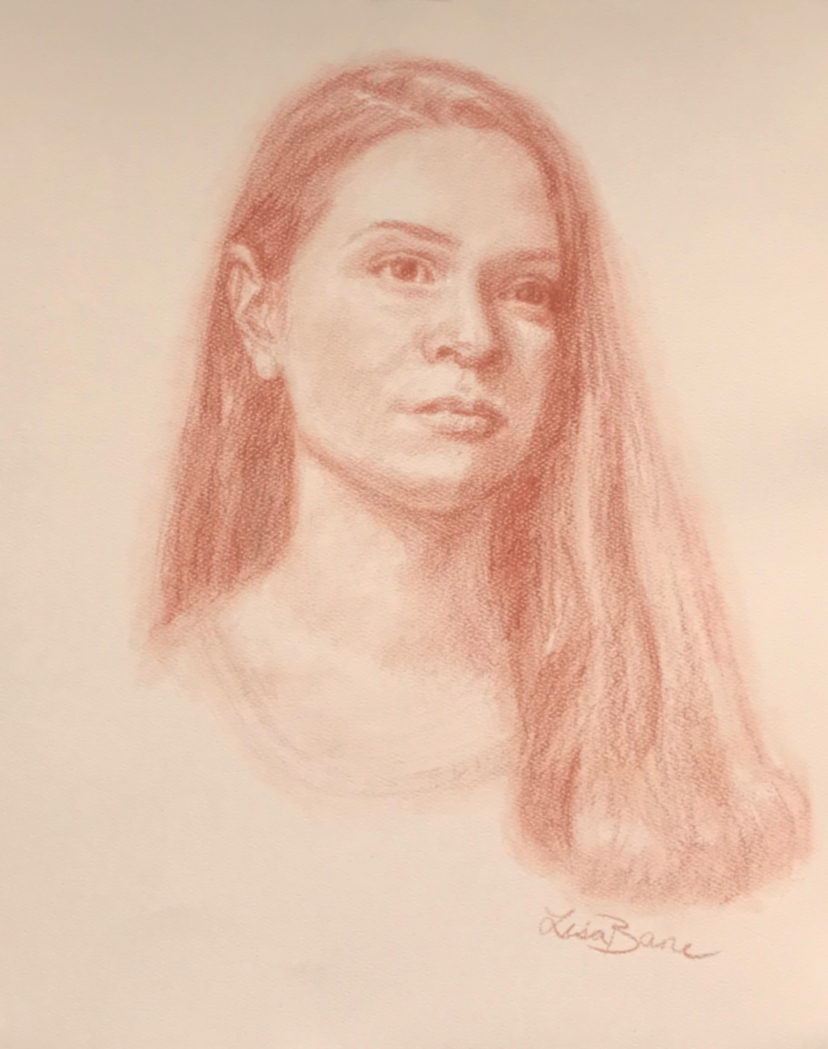 sanguine pencil portrait