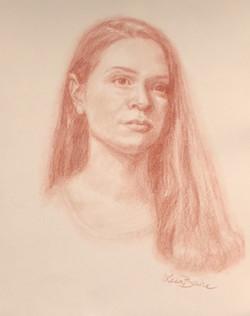sanguine pencil portrait