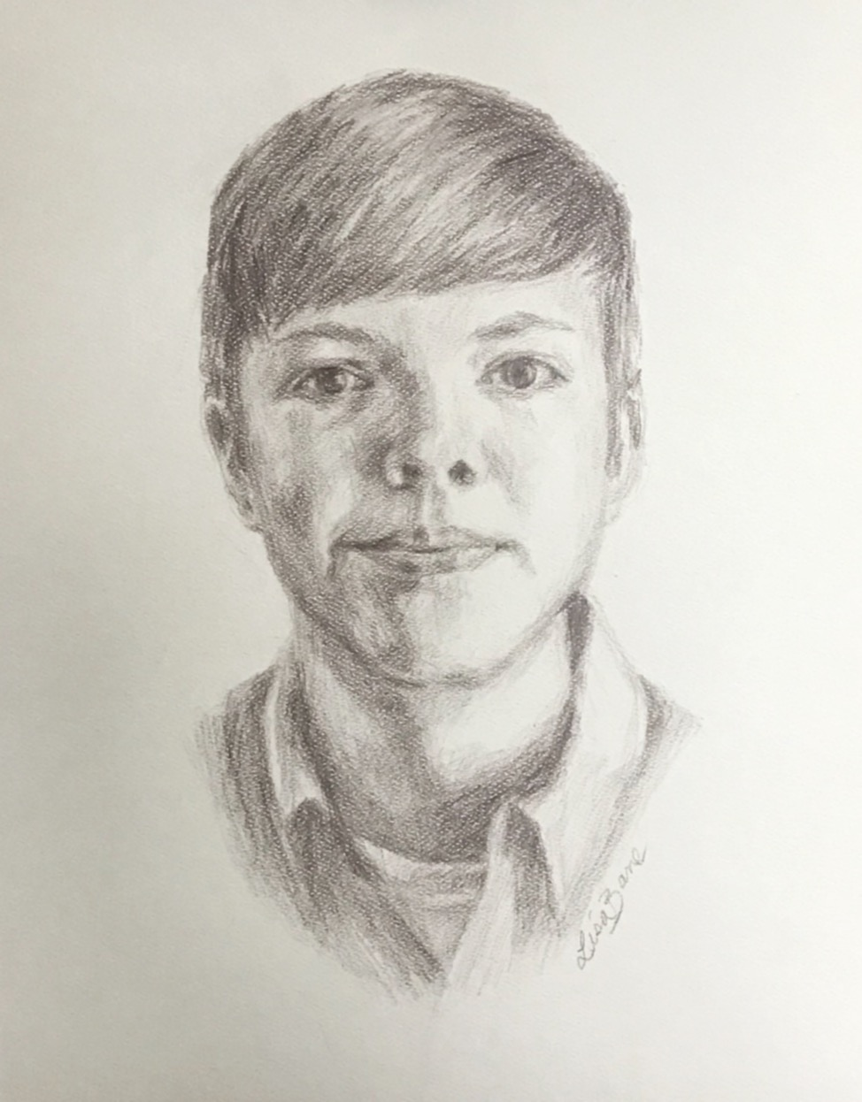 Charcoal pencil portrait