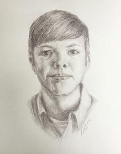 Charcoal pencil portrait