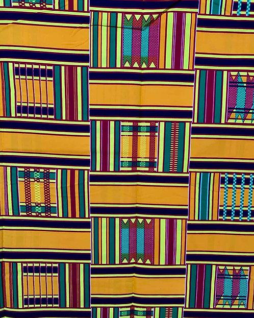 "Tissu Wax ""Kente du Ghana"""
