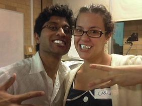 Carla and Meheransh alfoil splint 2009.jpeg