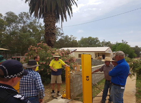 Flood Barrier Training in Central Queensland