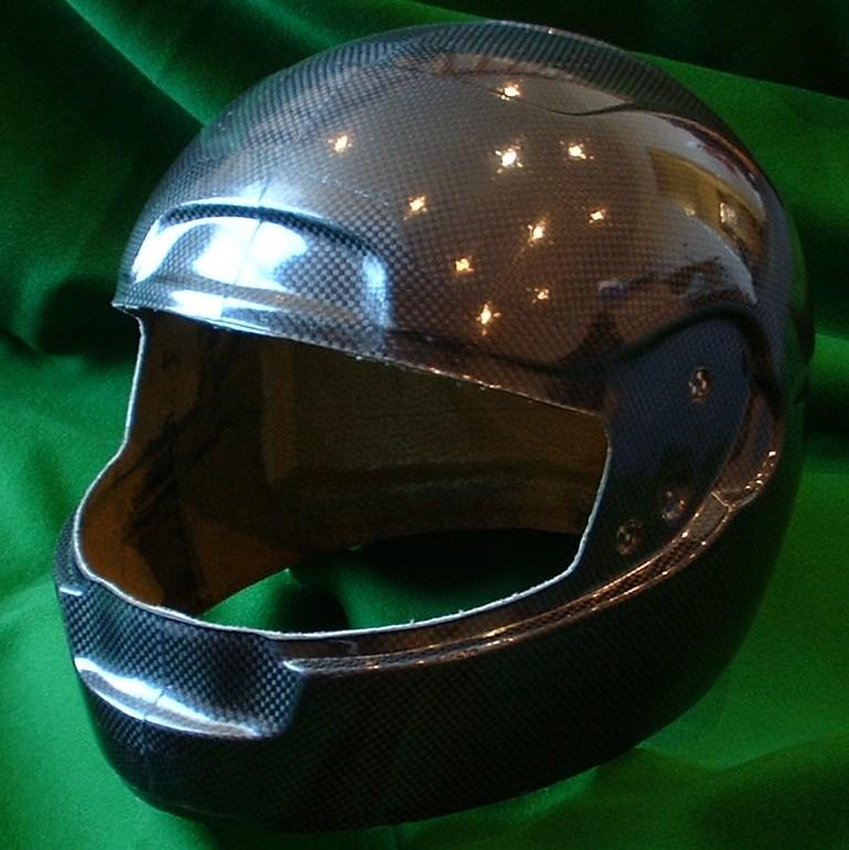 Carbon fibre helmet