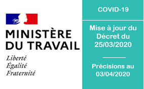 Mise à jour du 03/04/2020 du Décret du 25/03/2020 - Coronavirus - COVID-19
