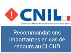 Les recommandations de la CNIL aux entreprises en cas de recours au CLOUD