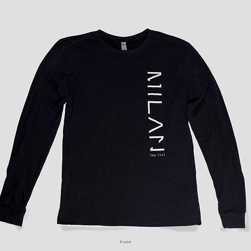 "Long Sleeve ""3M"" Shirt in Black"