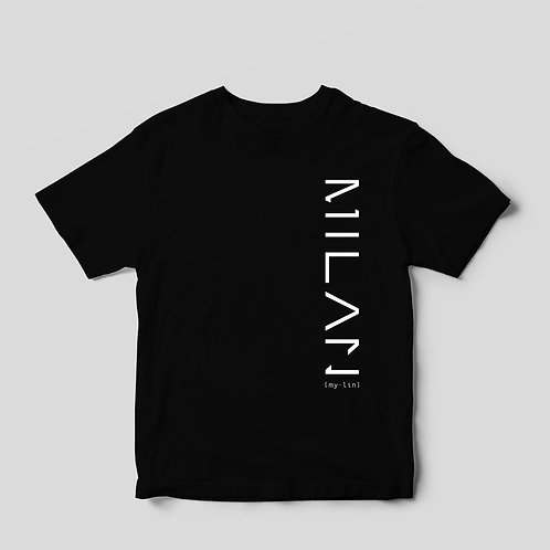 "Short Sleeve ""3M"" Tee in Black"