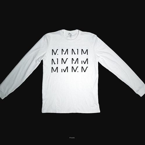 "Long Sleeve ""12M"" Shirt in White"
