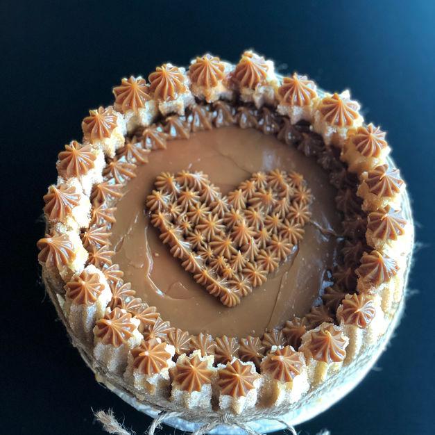 Valentine Heart Churro Cake