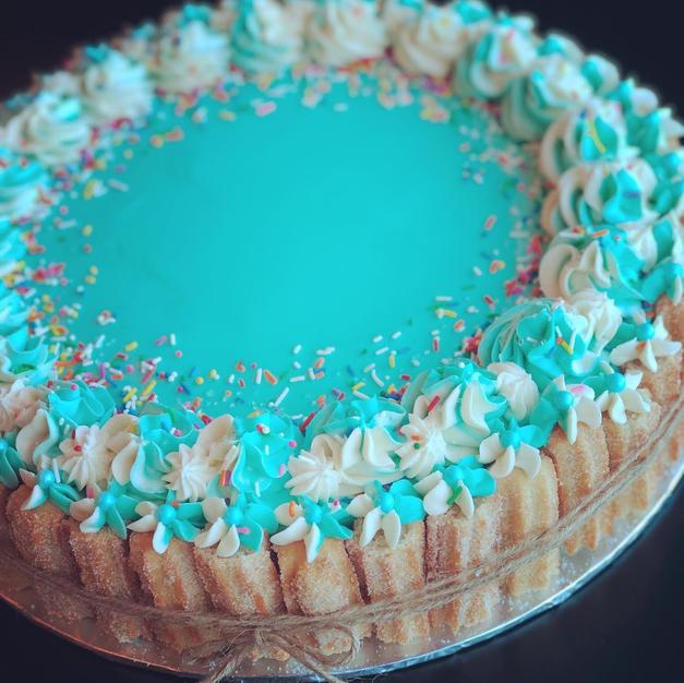 Custom Colour Churro Cake