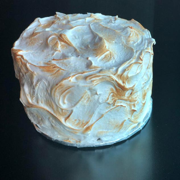 Torched Meringue Cake