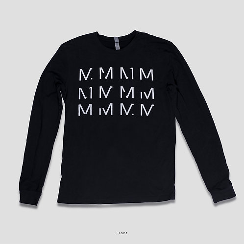 "Long Sleeve ""12M"" Shirt in Black"