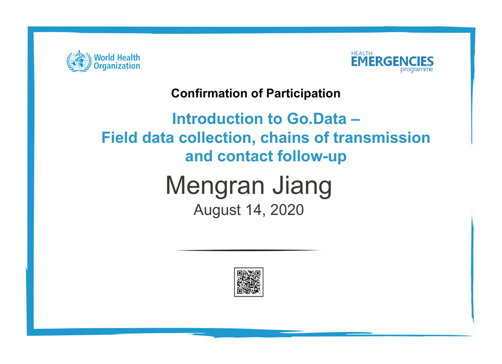 WHO - Intro to Go.Data