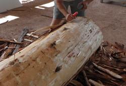 Entame du billot de bois