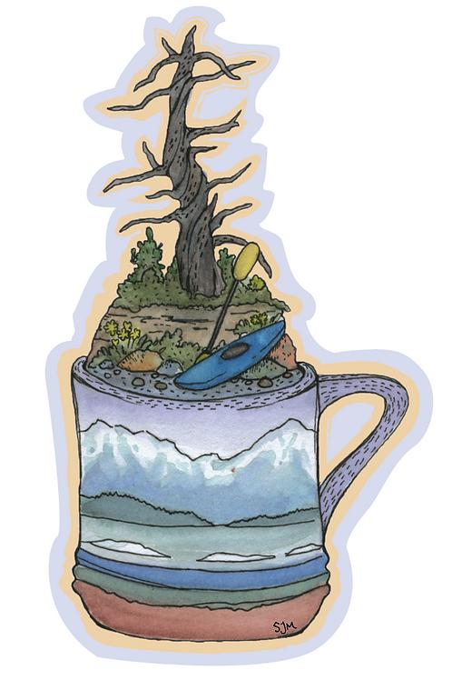 Kayak Mug Sticker
