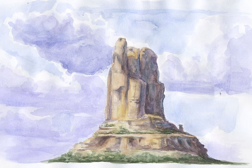 Original Chimney Rock Watercolor