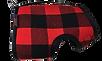 Buffalo Red Winter Wrap engineered dog harness fleece-lined