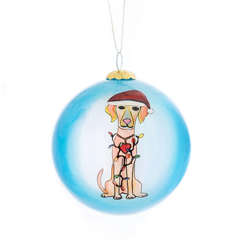 Yellow Labrador Ornament