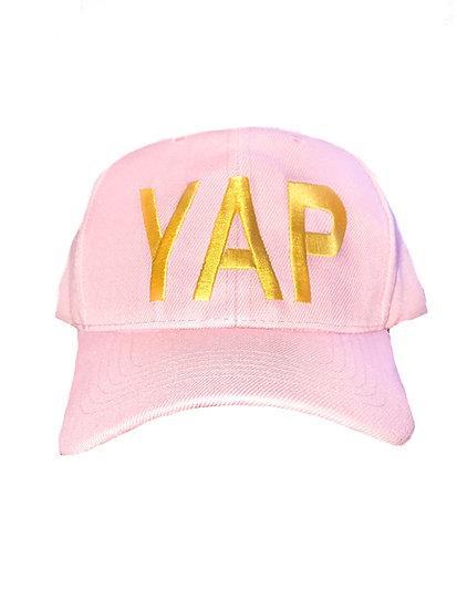 YAP Baseball Hat- Pink