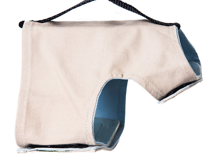 Classic Wrap-Khaki/ Baby Blue