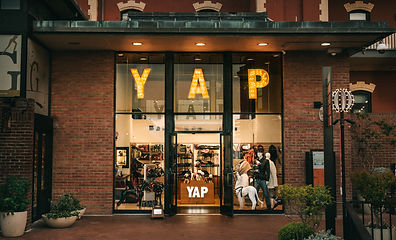 Yap USA pet supplies. San Francisco, Californa at Ghirardelli Square.