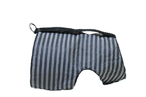 Classic Wrap- Black Denim/Leather/Silk