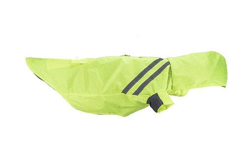 neon green raincoat