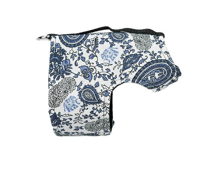 Classic Wrap-Blue Paisley