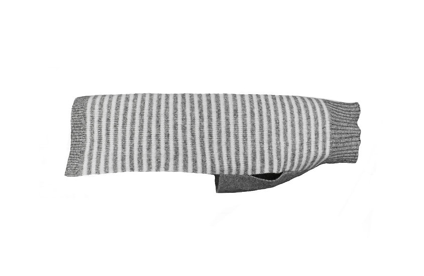 Cashmere Sweater- Grey Stripe