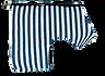 Breton Stripe Classic Wrap engineered dog harness