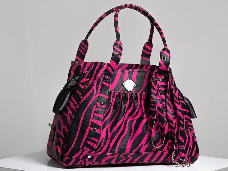 Mommy & Me Carrier (Pink Zebra)