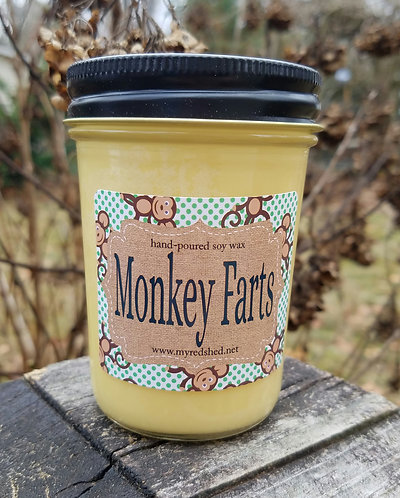 Monkey Farts Soy Wax Candle