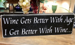 Wine gets better with age...