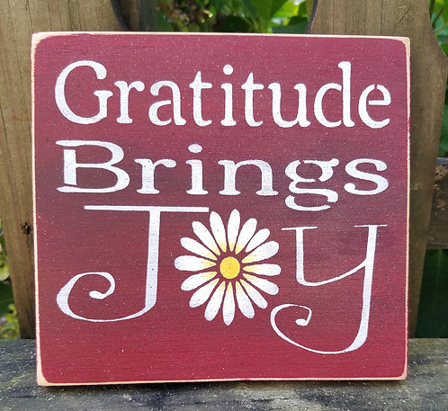 Gratitude Brings Joy