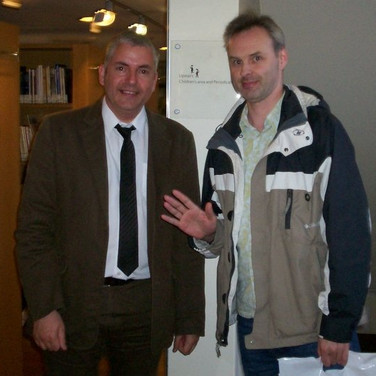 Andy Jackson meets his doppelgagger AB Jackson at last