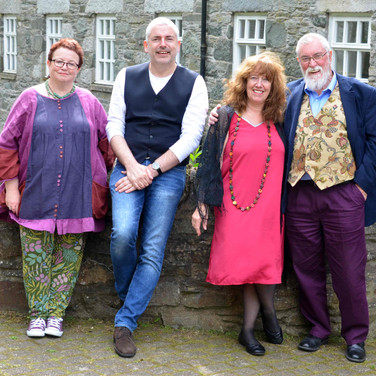 Split Screen event Gatehouse of Fleet (Pippa Little, Me, Joan Hewitt, Colin Will)