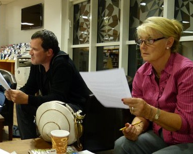 Soutar Group meeting in Perth Library - Margaret Gillies Brown, Morgan Downie, Di Chorley