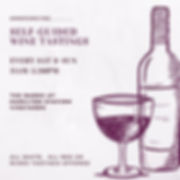 Violet and White Bottle Sketch Wine Tast