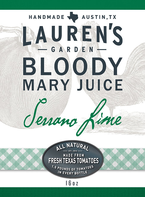 Serrano Lime Bloody Mary Juice 16oz